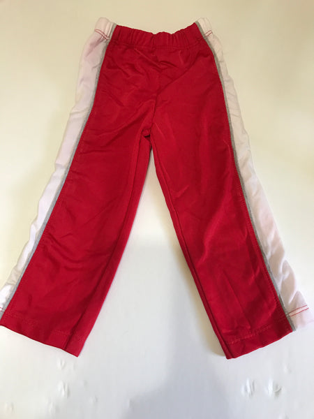 "Size: 6-12 months - Disney Red with White Stripe Polyester ""Sport"" Pant"