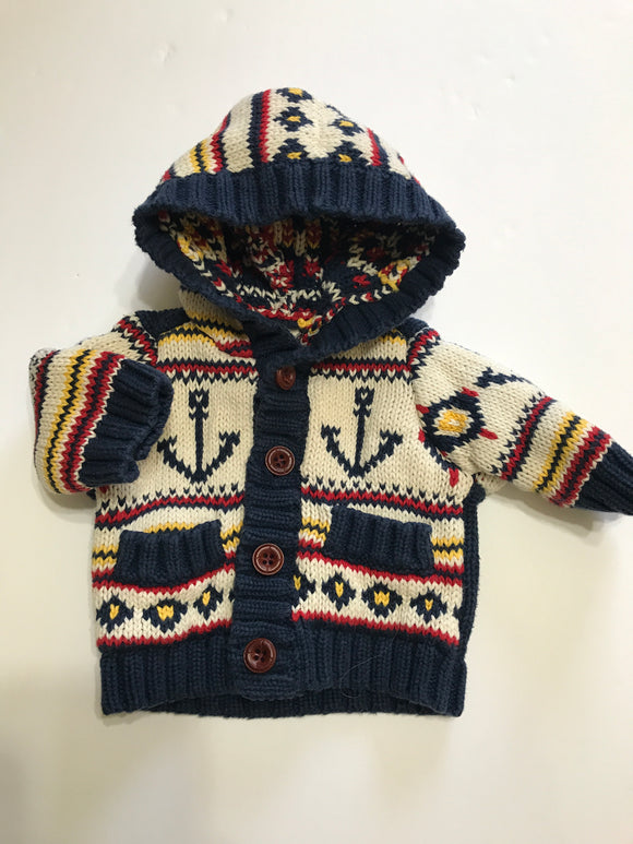 Size: 0-3 months - Old Navy Thick Knit Anchor Sweater