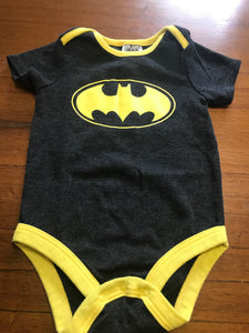 Size: 12-18 months - Black and Yellow Batman Onesie