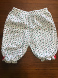 Size: 3-6 months - Christmas Holly Patterned Print Cotton Leggings / Pants