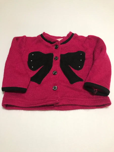 Size: 18 months - Magenta Colored Buttoned Bow Sweater