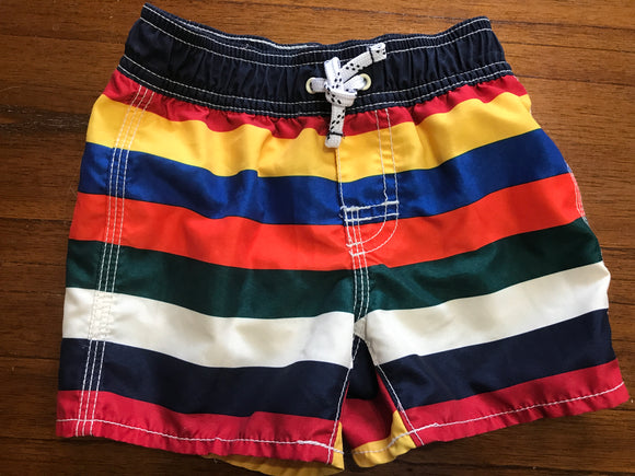 Size: 18-24 months - Classic Stripe Swim Shorts from Baby Gap