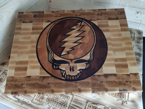 The Steal Your Face inlaid Cutting Board