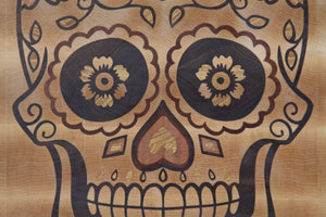 "Sugar Skull 19"" * 12"" * 1""7/8 cutting board custom Cutting Boards by Broinwood."