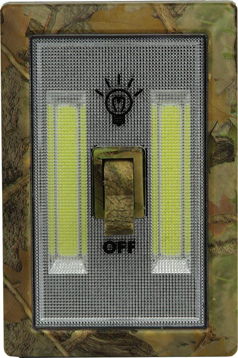 Camo COB Lightswitch  The Cabin Depot- The Cabin Depot Off-Grid Off Grid Living Solutions Cabin Cottage Camp Solar Panel Water Heater Hunting Fishing Boats RVs Outdoors