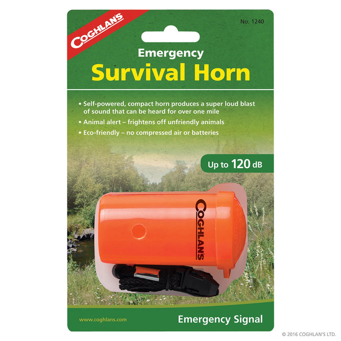Coghlans Emergency Survival Horn Camping / Outdoors Coghlans- The Cabin Depot Off-Grid Off Grid Living Solutions Cabin Cottage Camp Solar Panel Water Heater Hunting Fishing Boats RVs Outdoors