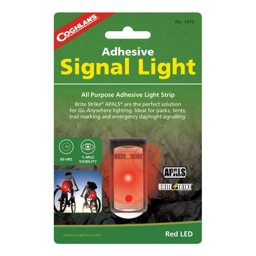Coghlans Adhesive signal Light- Red Camping / Outdoors Coghlans- The Cabin Depot Off-Grid Off Grid Living Solutions Cabin Cottage Camp Solar Panel Water Heater Hunting Fishing Boats RVs Outdoors