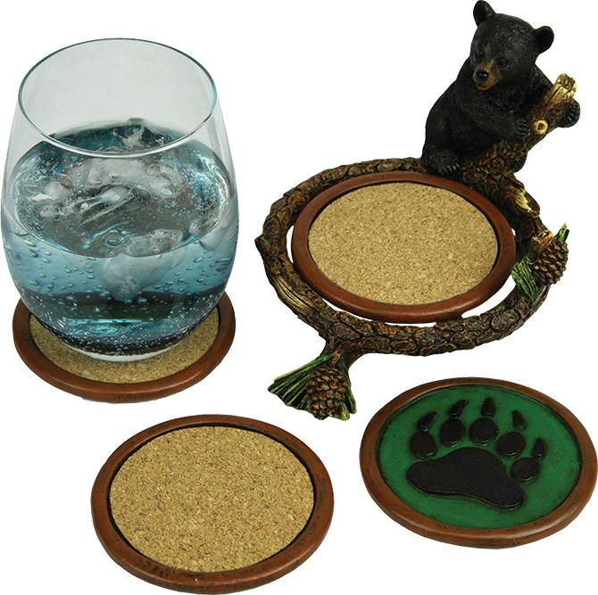 Baby Bear Pinetree Coaster Set Leisure Rivers Edge- The Cabin Depot Off-Grid Off Grid Living Solutions Cabin Cottage Camp Solar Panel Water Heater Hunting Fishing Boats RVs Outdoors