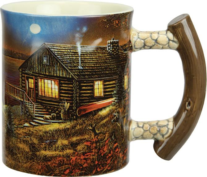 3D 15oz Mugs Leisure Rivers Edge- The Cabin Depot Off-Grid Off Grid Living Solutions Cabin Cottage Camp Solar Panel Water Heater Hunting Fishing Boats RVs Outdoors