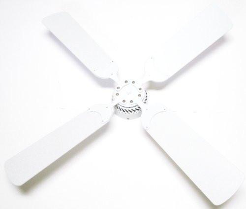 Global Electric 42-inch Non-Brush DC12V Ceiling Fan, White Finish with Remote Control, White Blades  The Cabin Depot- The Cabin Depot Off-Grid Off Grid Living Solutions Cabin Cottage Camp Solar Panel Water Heater Hunting Fishing Boats RVs Outdoors