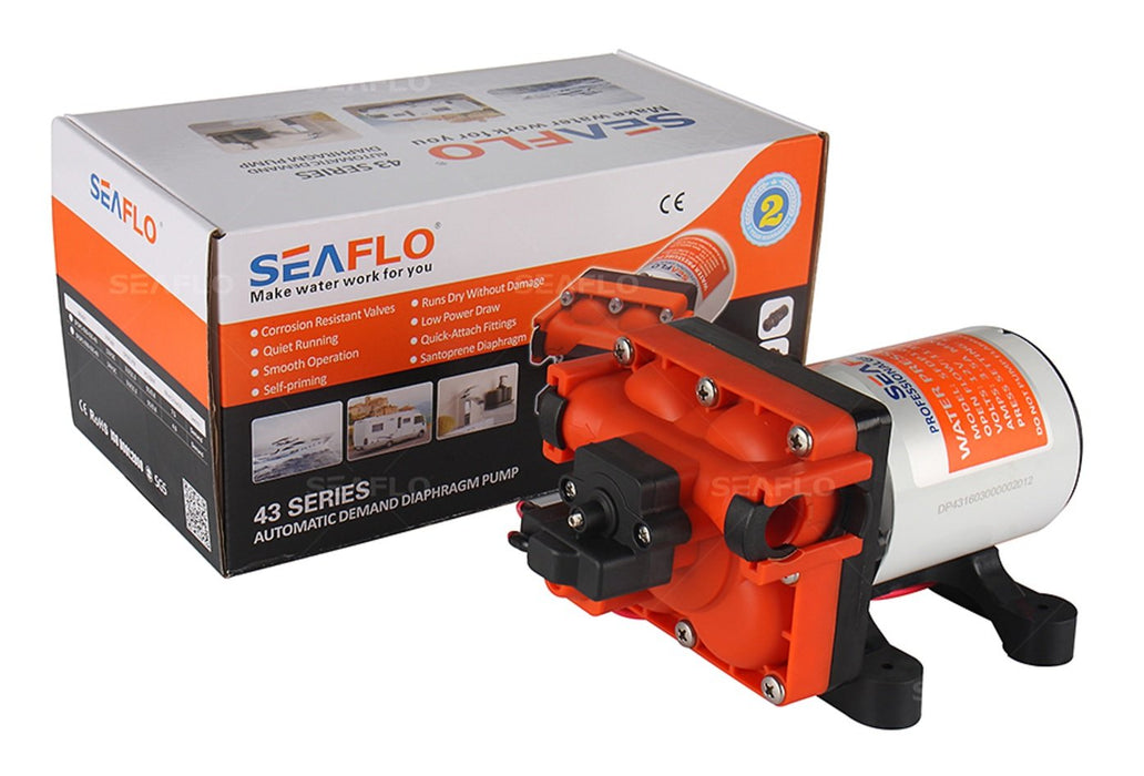 SEAFLO 24v Diaphragm Pump 3GPM 55PSI  SEAFLO- The Cabin Depot Off-Grid Off Grid Living Solutions Cabin Cottage Camp Solar Panel Water Heater Hunting Fishing Boats RVs Outdoors