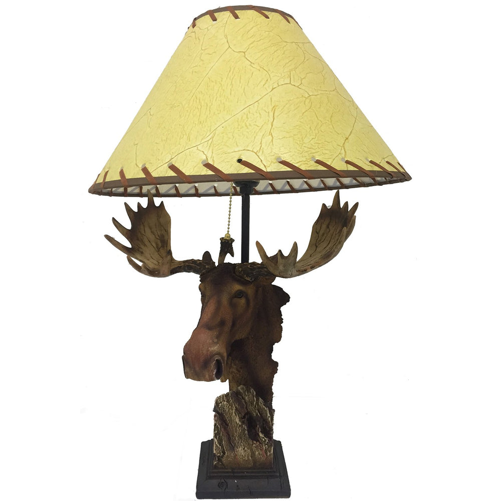 Moose Table Lamp Leisure Wildlife Creations- The Cabin Depot Off-Grid Off Grid Living Solutions Cabin Cottage Camp Solar Panel Water Heater Hunting Fishing Boats RVs Outdoors