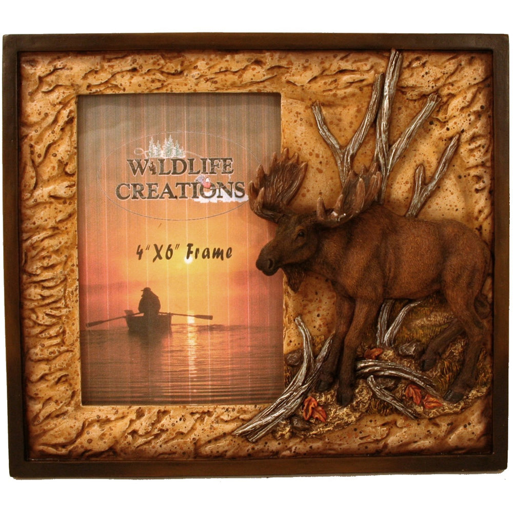 Moose Picture Frame Leisure Wildlife Creations- The Cabin Depot Off-Grid Off Grid Living Solutions Cabin Cottage Camp Solar Panel Water Heater Hunting Fishing Boats RVs Outdoors