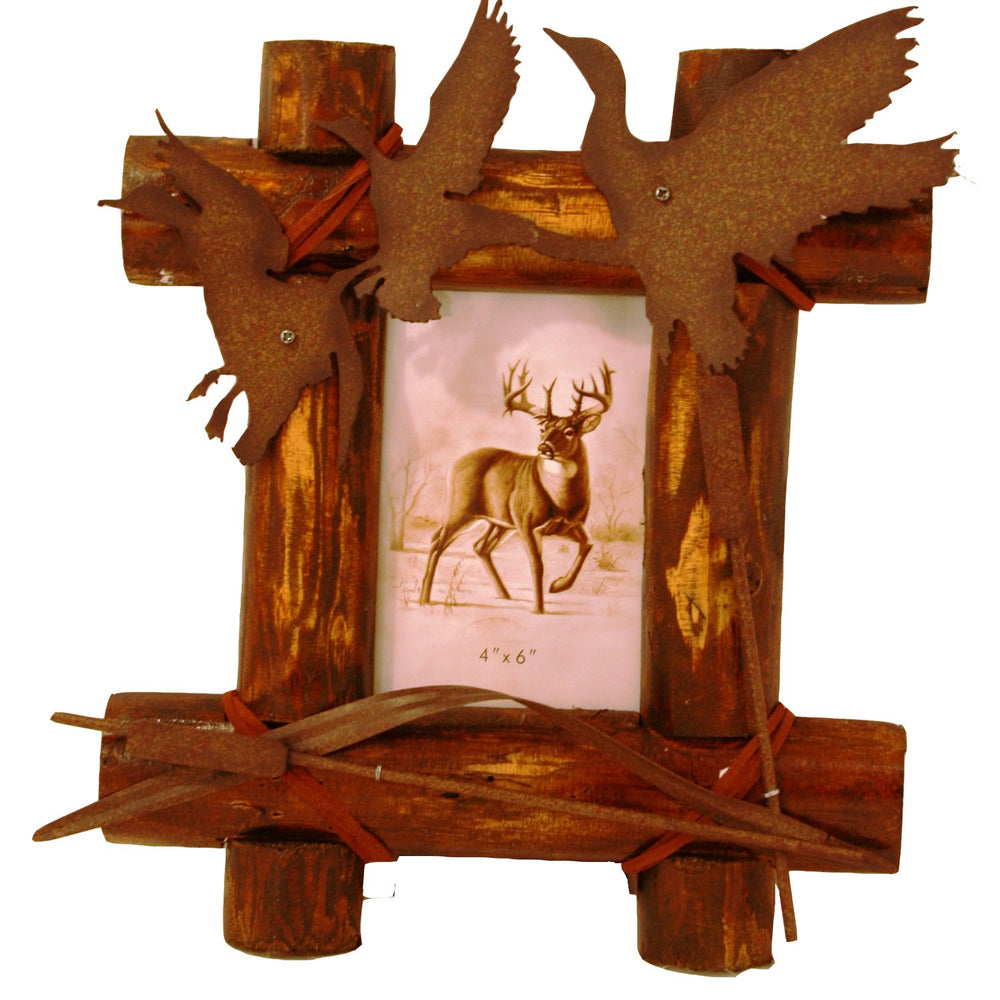 Wood with Metal Duck Frame