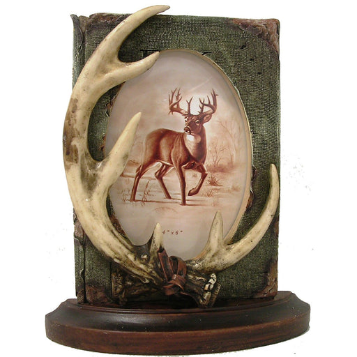 Antler Book Frame Leisure Wildlife Creations- The Cabin Depot Off-Grid Off Grid Living Solutions Cabin Cottage Camp Solar Panel Water Heater Hunting Fishing Boats RVs Outdoors