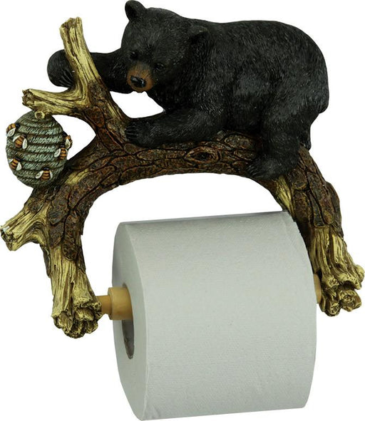 Bear on Tree Toilet Paper Holder Leisure The Cabin Depot- The Cabin Depot Off-Grid Off Grid Living Solutions Cabin Cottage Camp Solar Panel Water Heater Hunting Fishing Boats RVs Outdoors