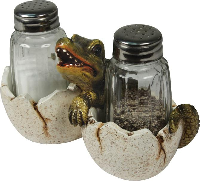 Baby Alligator Salt and Pepper Set Leisure Rivers Edge- The Cabin Depot Off-Grid Off Grid Living Solutions Cabin Cottage Camp Solar Panel Water Heater Hunting Fishing Boats RVs Outdoors