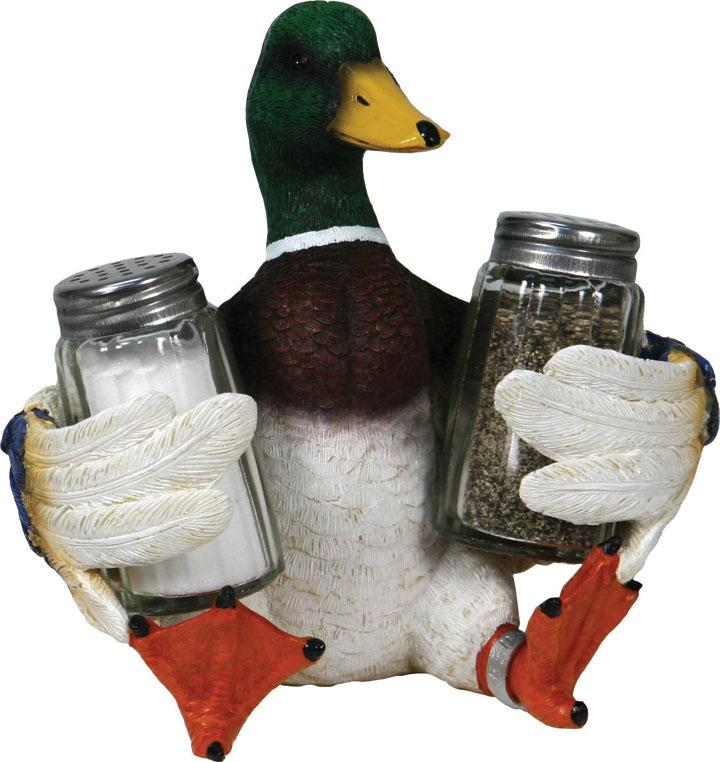 Duck Holding Salt and Pepper Shakers  The Cabin Depot- The Cabin Depot Off-Grid Off Grid Living Solutions Cabin Cottage Camp Solar Panel Water Heater Hunting Fishing Boats RVs Outdoors