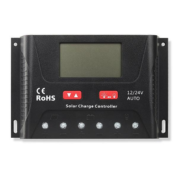 SRNE 40 Amp PWM Charge Controller  The Cabin Depot- The Cabin Depot Off-Grid Off Grid Living Solutions Cabin Cottage Camp Solar Panel Water Heater Hunting Fishing Boats RVs Outdoors
