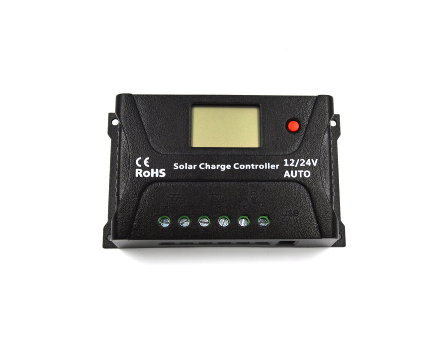 SRNE 20 Amp PWM Charge Controller  The Cabin Depot- The Cabin Depot Off-Grid Off Grid Living Solutions Cabin Cottage Camp Solar Panel Water Heater Hunting Fishing Boats RVs Outdoors