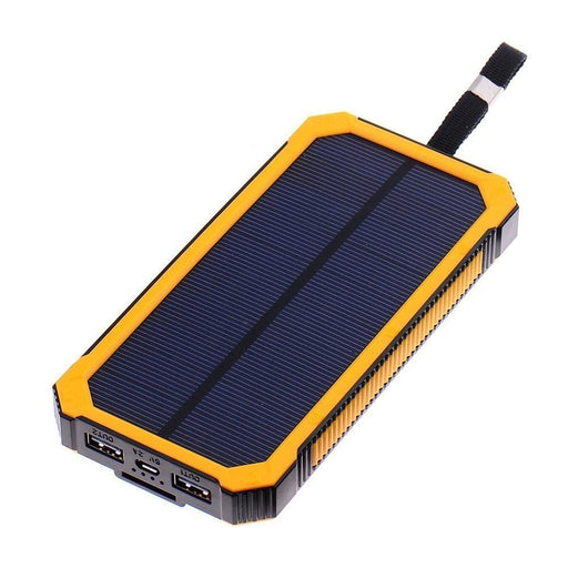 TCD Solar Charger - Waterproof solar power bank 12000 mah Charging Solutions The Cabin Supply Depot- The Cabin Depot Off-Grid Off Grid Living Solutions Cabin Cottage Camp Solar Panel Water Heater Hunting Fishing Boats RVs Outdoors