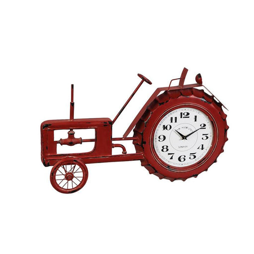 Red Tractor Metal Wall Clock  The Cabin Depot- The Cabin Depot Off-Grid Off Grid Living Solutions Cabin Cottage Camp Solar Panel Water Heater Hunting Fishing Boats RVs Outdoors
