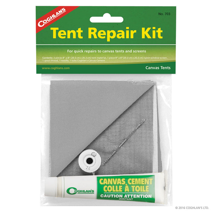 Coghlans Tent Repair Kit Camping / Outdoors Coghlans- The Cabin Depot Off-Grid Off Grid Living Solutions Cabin Cottage Camp Solar Panel Water Heater Hunting Fishing Boats RVs Outdoors