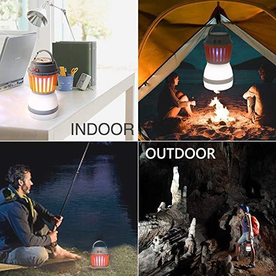 Bug Zapper Lantern LED Waterproof Mosquito Killer Camping Lamp