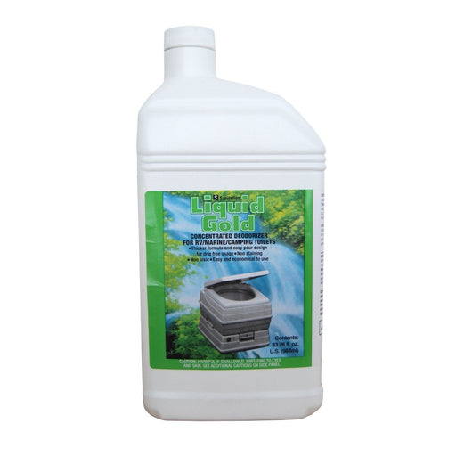 Liquid Gold Deodorizer 984ml Waste Management The Cabin Depot- The Cabin Depot Off-Grid Off Grid Living Solutions Cabin Cottage Camp Solar Panel Water Heater Hunting Fishing Boats RVs Outdoors