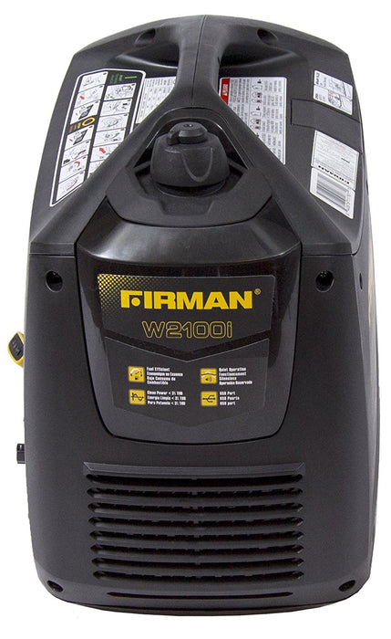 Firman Generator W01782 Whisper Series 1700 Watt with cover Generator Firman- The Cabin Depot Off-Grid Off Grid Living Solutions Cabin Cottage Camp Solar Panel Water Heater Hunting Fishing Boats RVs Outdoors