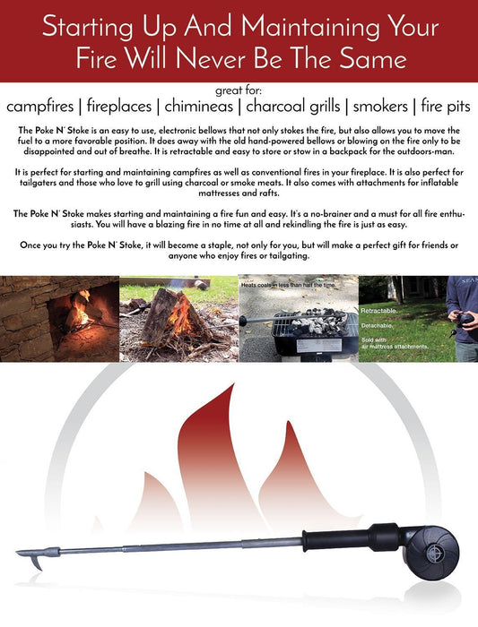 Poke N' Stoke - The Electronic Bellows and Fire Starter/Restarter Accessories The Cabin Supply Depot- The Cabin Depot Off-Grid Off Grid Living Solutions Cabin Cottage Camp Solar Panel Water Heater Hunting Fishing Boats RVs Outdoors