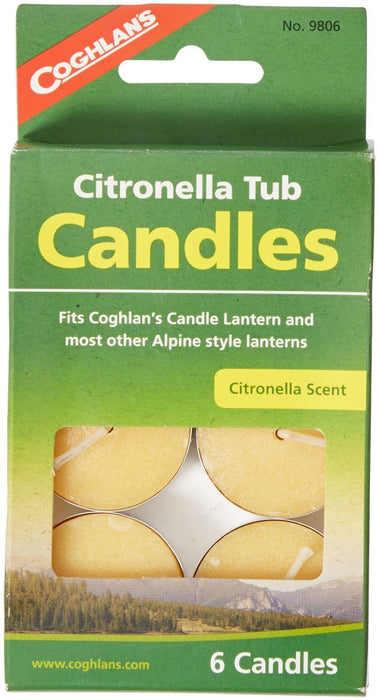 Coghlans Citronella Tub Candles (6 candles) Camping / Outdoors Coghlans- The Cabin Depot Off-Grid Off Grid Living Solutions Cabin Cottage Camp Solar Panel Water Heater Hunting Fishing Boats RVs Outdoors