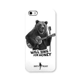 iPhone 5/5S/SE Dirty Velvet Busker Bear Case (Limited Edition) Phone Cases The Cabin Depot- The Cabin Depot Off-Grid Off Grid Living Solutions Cabin Cottage Camp Solar Panel Water Heater Hunting Fishing Boats RVs Outdoors