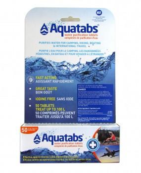 Aquatabs - 49mg Tabs (50) Water Purification Global Hydration- The Cabin Depot Off-Grid Off Grid Living Solutions Cabin Cottage Camp Solar Panel Water Heater Hunting Fishing Boats RVs Outdoors