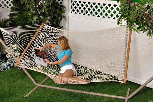 Bliss - 2 Person Classic Cotton Rope Hammock Leisure Bliss- The Cabin Depot Off-Grid Off Grid Living Solutions Cabin Cottage Camp Solar Panel Water Heater Hunting Fishing Boats RVs Outdoors