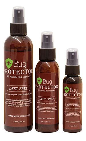 Bug Protector Deet-Free Bottle Insect repellent Protector Brands- The Cabin Depot Off-Grid Off Grid Living Solutions Cabin Cottage Camp Solar Panel Water Heater Hunting Fishing Boats RVs Outdoors