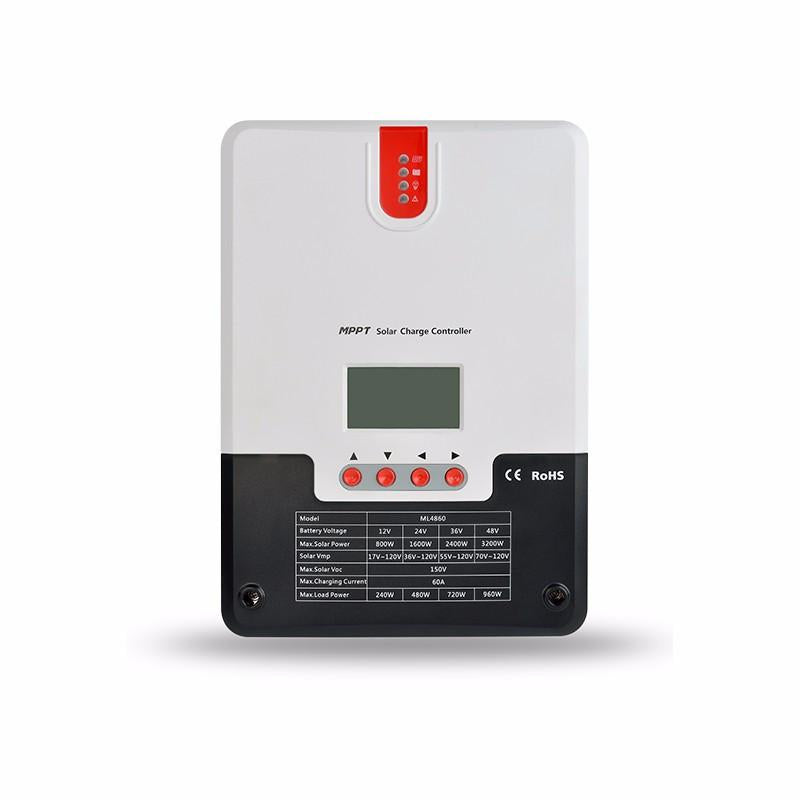 SRNE (ML4860) 60 Amp MPPT Charge Controller  The Cabin Depot- The Cabin Depot Off-Grid Off Grid Living Solutions Cabin Cottage Camp Solar Panel Water Heater Hunting Fishing Boats RVs Outdoors