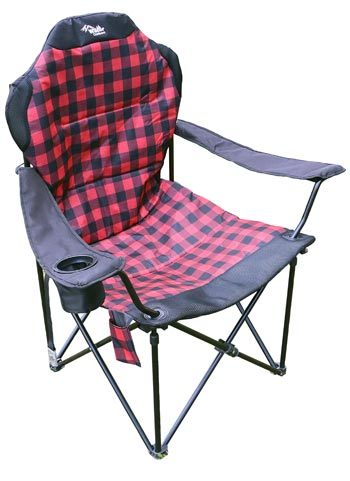 BUFFALO PLAID HIGH BACK CHAIR