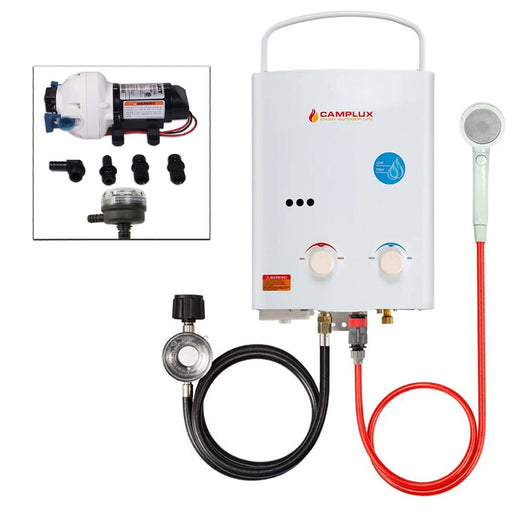 Camplux, Flojet, Tankless Water Heater