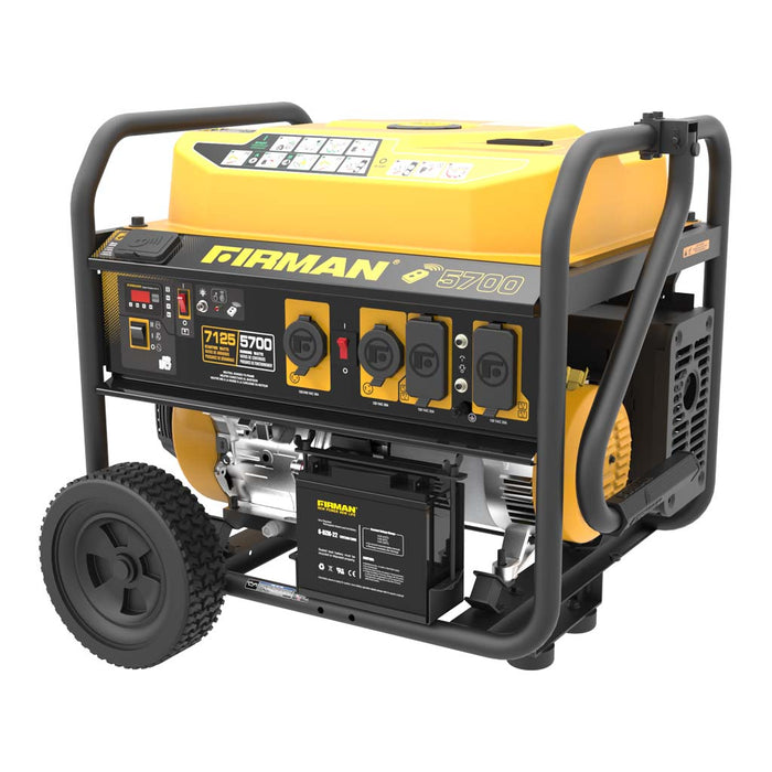 FIRMAN Generator P05703 Performance Series 7125W/5700W Remote/Electric/Recoil Start