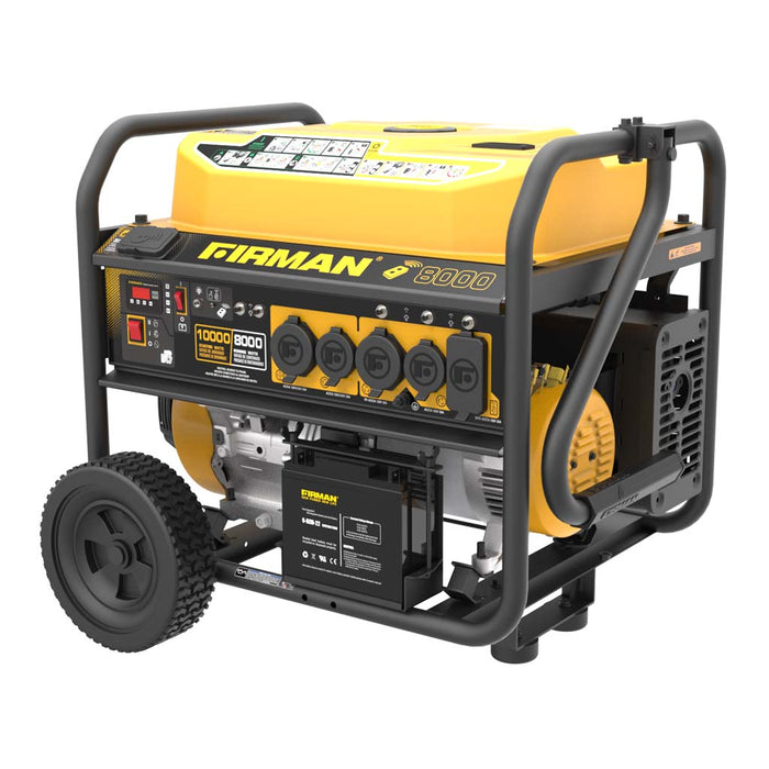 FIRMAN Generator P08003 Performance Series 10000W/8000W Remote/Electric/Recoil Start