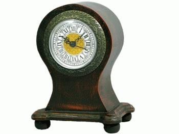 CLOCK ANTIQUE ROUND TOP