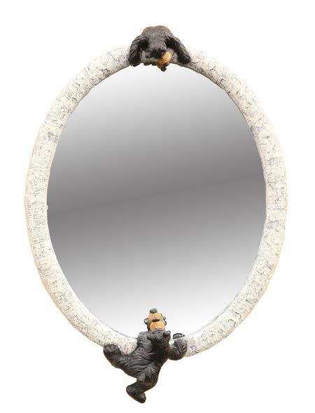 WILLIE BEAR BIRCH MIRROR