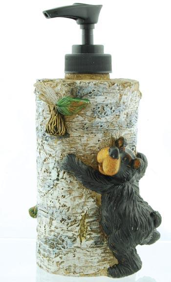 Willie Bear Birch Soap Dispenser  The Cabin Depot- The Cabin Depot Off-Grid Off Grid Living Solutions Cabin Cottage Camp Solar Panel Water Heater Hunting Fishing Boats RVs Outdoors