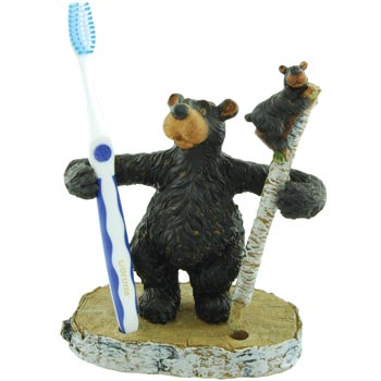 WILLIE BEAR TOOTHBRUSH /PEN HOLER