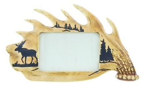 4 x 6 Picture Frame Moose Antler Frame Leisure Wilcor- The Cabin Depot Off-Grid Off Grid Living Solutions Cabin Cottage Camp Solar Panel Water Heater Hunting Fishing Boats RVs Outdoors