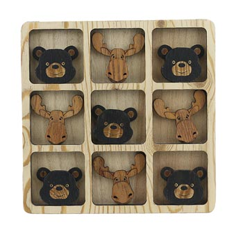 TIC TAC TOE BEAR/MOOSE FACES