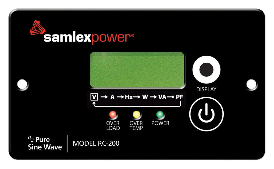 Samlex PST Series RC-200 (Remote for 1500w & 2000w) Alternative Energy Samlex- The Cabin Depot Off-Grid Off Grid Living Solutions Cabin Cottage Camp Solar Panel Water Heater Hunting Fishing Boats RVs Outdoors