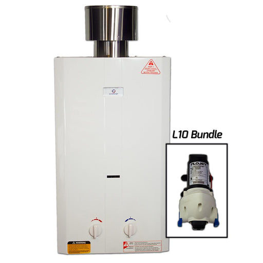 Eccotemp L10 Tankless Water Heater w/ Flojet Pump Water Heater Eccotemp- The Cabin Depot Off-Grid Off Grid Living Solutions Cabin Cottage Camp Solar Panel Water Heater Hunting Fishing Boats RVs Outdoors