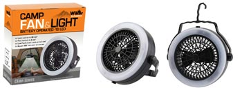 2-IN-1 LED LIGHT CAMPING FAN